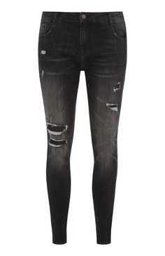 Black Ripped Skinny Jean