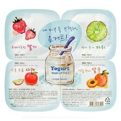 [ETUDE HOUSE] Iogurte Wash-off Pack - Mascaras a base de Iogurte e Frutas