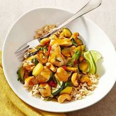 Thai Chicken Stir-Fry with Basil & Cashews Recipe