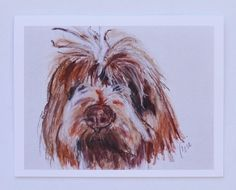Wirehaired Pointing Griffon Dog Art Note Cards by Cori Solomon