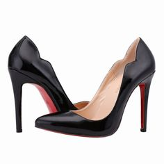 Red Sole Autumn New fashion star pointed toe solid high heeles red bottom shoes nightclub women's pumps plus size