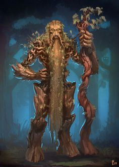 Ent Mage by ArtDeepMind on DeviantArt Weird Creatures, Magical Creatures, Fantasy Creatures, Dungeons And Dragons Characters, Fantasy Characters, Dnd Characters, Fantasy Races, Fantasy Rpg, Fantasy Monster