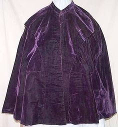 Purple Velvet Cape authentic 1860-1863  very fashionable color