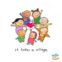 Today's Doodle: it takes a village!