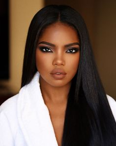 Beautiful long straight hairstyles wigs for black women lace front wigs human hair wigs african american wigs buy now Make Up Looks, Natural Hair Wigs, Natural Hair Styles, Natural Makeup, Black Girl Makeup Natural, Natural Beauty, Simple Makeup, Maquillage Black, Black Hair Afro