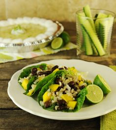 Rice Salad Recipe: Mango, Brown Rice and Black Bean Salad with Lime and Cilantro Rice Salad Recipes, Veggie Recipes, Vegetarian Recipes, Cooking Recipes, Healthy Recipes, Meal Recipes, Veggie Food, Family Recipes, Yummy Recipes