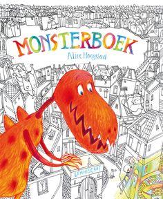 Monster-boek is een prentenboek over een zwart-witte stad en een  meisje dat  met haar krijtjes wonderlijke monsters tot leven  brengt. Bekroond met de Gouden Penseel omdat er zo veel te ontdekken valt, dat het elke keer een nieuw verhaal vertelt. 4+ € 14,95 lemniscaat.nl