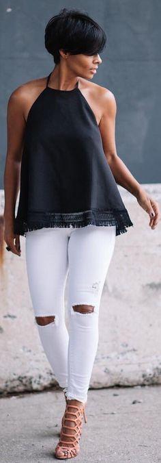 Halter // Halter top @shopkyrzscloset , Jeans Topshop , Heels Schutz // Fashion look by  kyrzayda_
