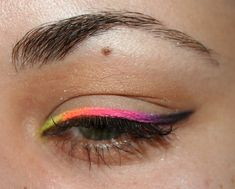 Check out our favorite Neon colored line inspired makeup look. Embrace your cosmetic addition at MakeupGeek.com!