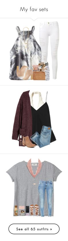 """""""My fav sets"""" by a-devo ❤ liked on Polyvore featuring American Eagle Outfitters, Frame Denim, Tory Burch, Urban Decay, Agent 18, Skagen, S'well, Forever 21, Bamboo and Hollister Co."""