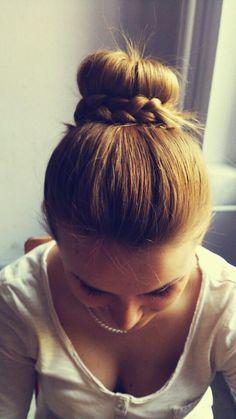 Bun Wrapped #Braid       #hair #hairstyles