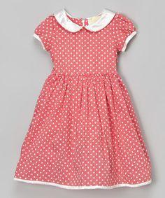 Look at this #zulilyfind! Pink & White Polka Dot Dress - Toddler & Girls by JC EDITION #zulilyfinds