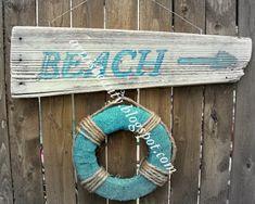 my home made beach sign