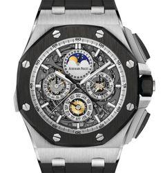 AP Royal Oak Grand Complication – VR 560000 dólares – Audemars Piquet es una firma de relojes especiales donde se observa repetidos de minutos, cronógrafos con milésimas de segundos , calendario perpetuo; una maquinaria del tiempo para leer sin necesidad de un manual.