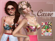 Sims 4 CC's - The Best: Cassie Crop Top in 12 Colors by Trillyke