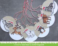 Nichol Spohr LLC: Lawn Fawn Fawny Holiday Week | Winter Critters Holiday Gift Tags