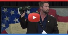 """Watch how former navy Seal Benjamin Smith, in his short speech, calls president Obama a Muslim TRAITOR. """"All the Muslims country say Death to America, like we are the big SATAN""""."""