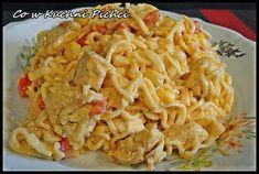 Pasta Salad, Macaroni And Cheese, Spaghetti, Menu, Ethnic Recipes, Food, Crab Pasta Salad, Menu Board Design, Mac And Cheese