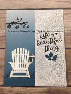 The Irish Scrapper: Stampin' Up! Colorful Seasons Making Greeting Cards, Greeting Cards Handmade, Beach Cards, Stampin Up Catalog, Super 2017, Color Theory, Stamping Up, Paper Cards, Paper Design