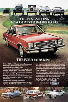 1978 Ford Fairmont Vintage Look Metal Sign Vintage Advertisements, Vintage Ads, Bicicletas Raleigh, Ford Classic Cars, Classic Auto, Ford Lincoln Mercury, Car Advertising, Us Cars, Old Ads