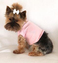 Baby Pink Dog T Shirt