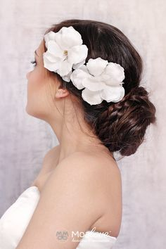 Maya | silk hair flowers set - MoaLove Accessories