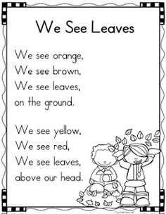 40 Sight Word Poems for Kindergarten
