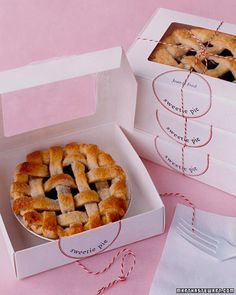 Mini Fruit Pies as favors... I feel like this would take a lot of prep, but they're so cute! from @Martha Stewart