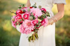 Such a romantic #wedding bouquet! From http://ruffledblog.com/summer-of-love-wedding-ideas/  Photo Credit: http://rutheileenphotography.com/ Florals by http://rutheileenphotography.com/