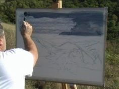 Good demo of large plein air landscape executed in a methodical, logical manner by David Badcock.