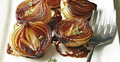 As these onion halves cook, the balsamic mixture becomes syrupy and caramelizes the onions, giving them a bronzed caramel color and a luscious, rich flavor. Onion Recipes, Vegetable Recipes, Vegetarian Recipes, Cooking Recipes, Healthy Recipes, Grilling Recipes, Healthy Eats, Easy Recipes, Veggie Dishes