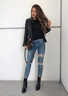 Black leather jacket || @liketoknow.it http://liketk.it/2qG0v #liketkit