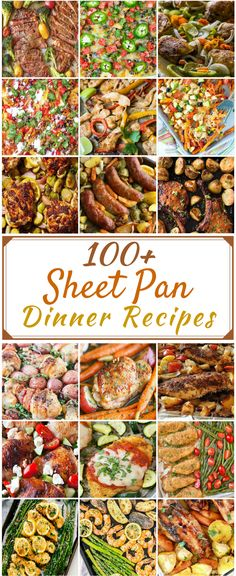 100 Cheap & Easy Sheet Pan Recipes These sheet pan dinners are easy, simple and tasty. Sheet pan recipes are perfect for busy days because there is very little prep time and clean up Sheet Pan Suppers, One Pan Dinner, Sheet Pan Dinner, Cooking Recipes, Healthy Recipes, Cheap Recipes, Cheap Meals, Pan Cooking, Fast Recipes