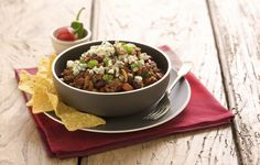 Chili with Castello® Blue Cheese Dinner Party Recipes, Dinner Entrees, Entree Recipes, Appetizer Recipes, Chorizo, Pizza Cool, Blue Cheese Recipes, Blue Cheese Burgers, Creamy Peas