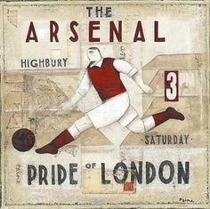 Arsenal The Pride of London Old School. Football Images, Football Art, Football Players, Soccer Art, Soccer Poster, Arsenal Fc, Arsenal Football, Arsenal Pictures, English Premier League