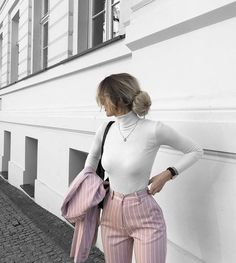 Simple Summer to Spring Outfits to Try in 2019 – Prettyinso Winter Fashion Outfits, Look Fashion, Fall Outfits, Summer Outfits, Formal Winter Outfits, Classy Fashion, Female Fashion, Fashion Women, Fashion Beauty