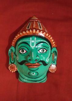 A pattachitra paper mask of Nakula the fourth by PattachitraNet