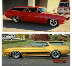 Custom Built Ford Torino and Mustang Mach1 Station Wagons.