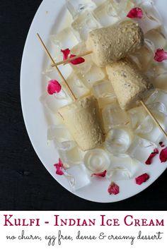 Kulfi recipe, a traditional Indian dessert. An eggless, no churn, dense and creamy ice cream to beat the heat. Easy malai kulfi.