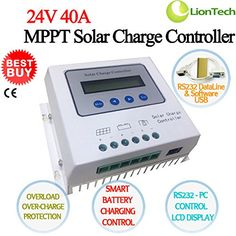 NEW 24V 20A30A40A MPPT Solar Panel Charge Controller Regulator Charger Safe With LCD Display  RS232 PC Smart Control  CE Current 40A >>> Find out more about the great product at the image link-affiliate link. #SolarPanelsForHome