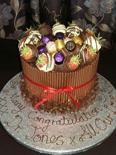 Super Deluxe Chocolate Box Mikado Celebration Cake. Yummy, Yum, Yum!!!