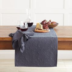 Vine Floral Boutis Table Runner | Williams-Sonoma