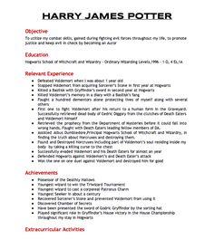 Harry's Resume