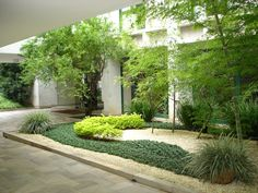 Jardim para um Edifício residencial.