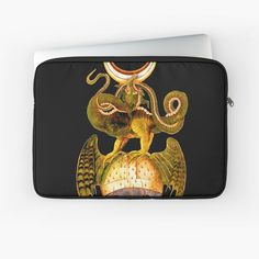 'Dragon tshirt - fire breathing - man eating - a beastie - groteskology' Laptop Sleeve by Macbook Air Pro, Laptop Covers, Sleeve Designs, Back To Black, Laptop Sleeves, Chiffon Tops, Duvet Covers, Classic T Shirts, Zip Around Wallet