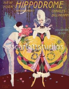 Hippodrome Art Deco Program Cover Pierrot Lady 11x14 Canvas Print | eBay Vintage French Posters, French Vintage, Rococo Fashion, Stage Design, Cover Design, All The Colors, Ephemera, Art Deco, Rooms