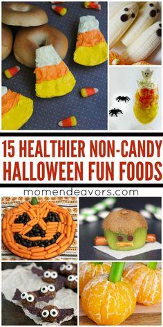 15+ Non-Candy, Healthier Halloween Fun Foods!!