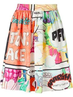 Shop Boutique Moschino cartoon print skirt in North of the 42nd from the world's best independent boutiques at farfetch.com. Shop 300 boutiques at one address.