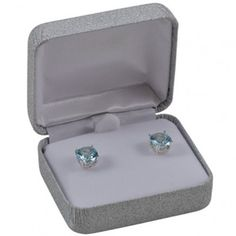 Silver Shimmer Earring Box...(ST61-4511:100001:T).! Price: $9.99 #earringbox #jewelrybox