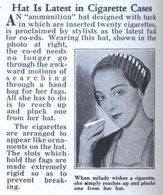 1932:  Cigarette Hat